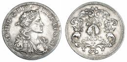 242  -  Ducado de 100 grana. 1693. Nápoles AG/A. DAV-4047. MBC.