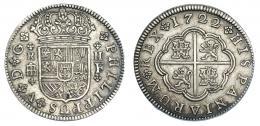 244  -  2 reales. 1722. Segovia. F. VI-768. MBC+.