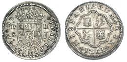 245  -  2 reales. 1721. Sevilla J. VI-782. Pequeña grieta. MBC+.