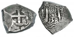 253  -  8 reales. 1758. Potosí q. VI-388. MBC-/MBC.