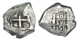 254  -  8 reales. 1758. Potosí q. VI-388. MBC.