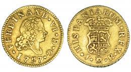 255  -  1/2 escudo. 1757. Madrid. JB. VI-146. MBC.