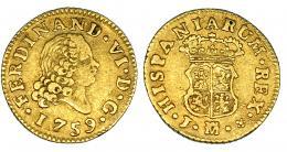 256  -  1/2 escudo. 1759. Madrid. J. VI-419. MBC-/MBC.