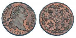258  -  2 maravedís. 1775. Segovia. VI-31. R.B.O. EBC.