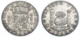 260  -  8 reales. 1762. México. MM. VI-918. Pátina gris. MBC+/MBC.