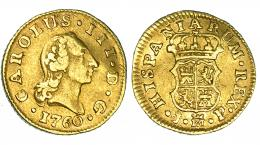 264  -  1/2 escudo. 1760. Madrid. JP. VI-1040. Ligeramente alabeada. MBC.