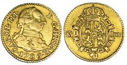 266  -  1/2 escudo. 1786. Madrid. DV. VI-1065. MBC.