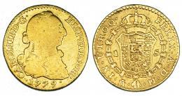 268  -  Escudo. 1779. Madrid. PJ. VI-1123. Restos de soldadura en rev. BC/BC+.