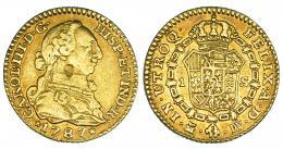 271  -  Escudo. 1787. Madrid. DV. VI-1129. Golpe en anv. MBC.