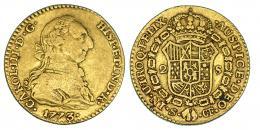 277  -  2 escudos. 773. Sevilla. CF. VI-1416. MBC-.