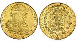 279  -  8 escudos. 1774. Madrid. PJ. VI-1621. R.B.O. MBC+/EBC.