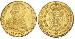 280  -  8 escudos. 1772. Sevilla. CF. VI-1774. R.B.O. MBC+/EBC-. Rara.