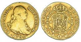 288  -  Escudo. 1792. Madrid. MF. VI-907. BC+/MBC-.