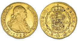 289  -  Escudo. 1792. Madrid. MF. VI-907. Fina raya en anv. MBC-.