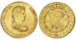 342  -  8 escudos. 1813. Lima. JP. VI-1465. R.B.O. MBC/MBC+. Escasa.