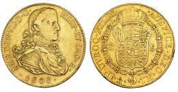 344  -  8 escudos. 1808. México. TH. Finas rayitas. MBC.