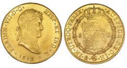 345  -  8 escudos. 1815. México. HJ. VI-1488. Acuñación algo floja. R.B.O. EBC-.