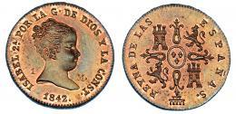 350  -  Maravedí. 1842. Segovia. VI-4. B.O. Sc.