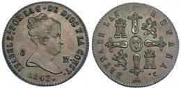 353  -  8 maravedís. 1843. Segovia. VI-95. EBC.