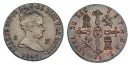 355  -  8 maravedís. 1847. Jubia. VI-78. R.B.O. EBC-/EBC+.