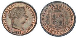 356  -  5 céntimos de real. 1856. Segovia. VI-122. R.B.O. SC.