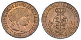 359  -  2'5 céntimos de escudo. 1868. Segovia. VI-193. B.O. SC.