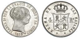 362  -  4 reales. 1853. Madrid. VI-392. R.B.O. EBC/EBC+.