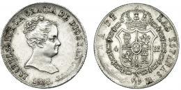 363  -  4 reales. 1838. Sevilla. DR. VI-406. Leve vano en rev. MBC+. Escasa.