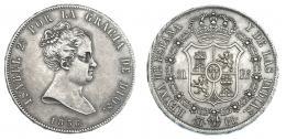 366  -  20 reales. 1836. Madrid. CR.VI-497. Pátina gris. MBC+.