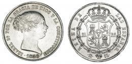 367  -  20 reales. 1850. Madrid. CL. VI-506. Limpiada. EBC.