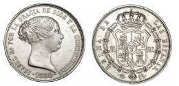 368  -  20 reales. 1850. Madrid. CL. VI-506. Pequeñas marcas. MBC+/MBC.