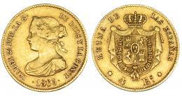 372  -  4 escudos. 1865. Madrid. VI-570. MBC.