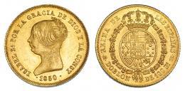 376  -  Doblón de 100 reales. 1850. Madrid. CL. VI-626. B.O. EBC+/SC.