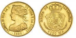 378  -  100 reales. 1859. Barcelona. VI-635. MBC.