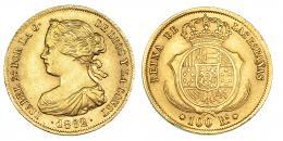 380  -  100 reales. 1862. Barcelona. VI-638. MBC+.