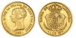 382  -  100 reales. 1855. Madrid. VI-642. MBC.
