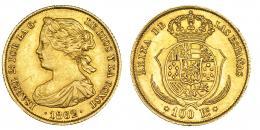 384  -  100 reales. 1862. Madrid. VI-649. MBC.