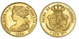385  -  100 reales. 1862. Madrid. VI-649. EBC.