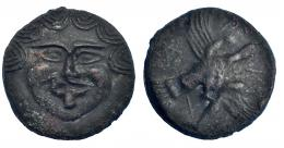50  -  ESCITIA. Olbia. Aes Grave. 437-410 a.C. SNG BM Mar Negro 383. Leves oxidaciones. MBC+.