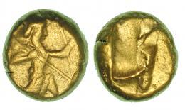 57  -  PERSIA. Dárico. Periodo de Darío I a Jerjes II (420-375). Sardes. A/ Rey arquero de rodillas. R/ Punzón incuso. COP-274-277. SBG-3425. MBC-.