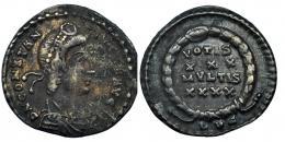 16  -  CONSTANCIO II como Augusto. Silicua. Lugdunum.