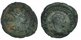 17  -  AURELIANO Y VABALATO. Antoniniano. Antioquía.