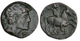 22  -  NABATEA. ARETAS IV ( 9 a.C.-40 d.C.). AE-19.