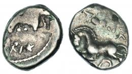 26  -  GALIA. Secuanos. Togirix (mediados s. I a.C.). Quinario.