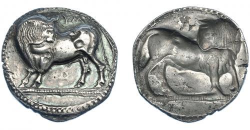 GRECIA ANTIGUA. LUCANIA. Síbaris. Estátera (550-510 a.C.).