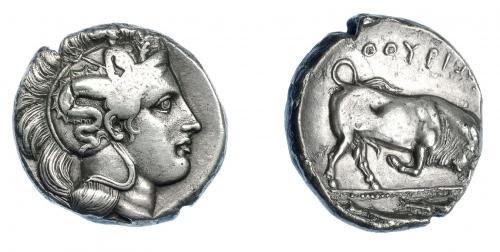 GRECIA ANTIGUA. LUCANIA . Thurium. Diestátera (350-300 a.C.