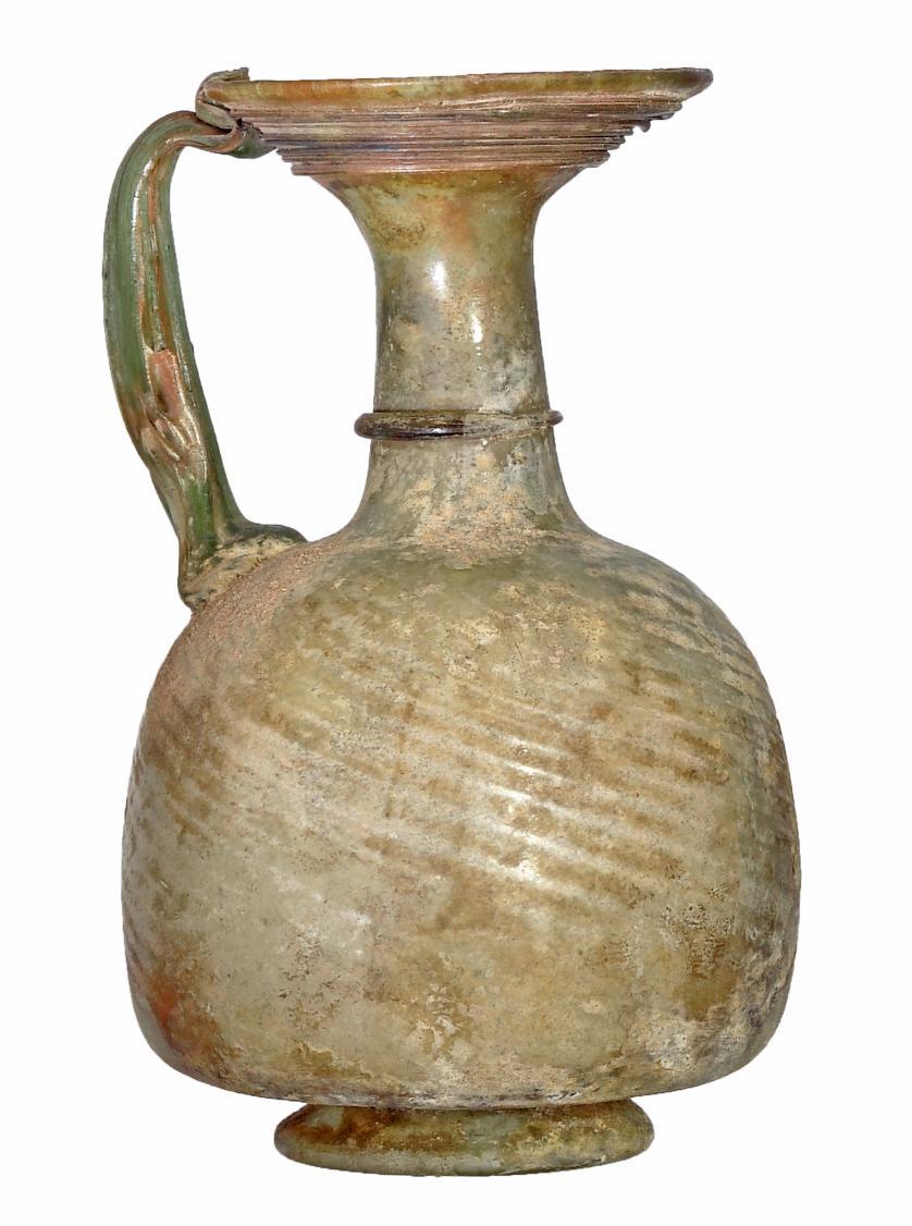 ROMA. Imperio Romano. Vidrio. Jarrita con irisaciones y pát